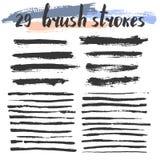 Brush strokes set. Stock Photos