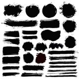 Brush Strokes Grunge COllection Royalty Free Stock Photography