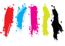 Brush strokes - vector Stock Photography