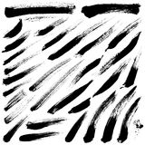 Brush Strokes. Vector set 013 royalty free stock image