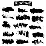 Brush strokes vector set Royalty Free Stock Images