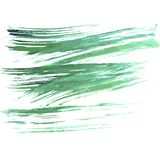 Brush strokes. Watercolor background in blue-green colors. Vector illustration.  Royalty Free Stock Images