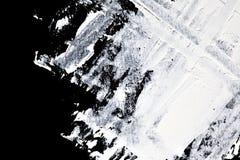 Brush strokes of white oil paint Stock Images