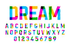Brush style colorful font Royalty Free Stock Photos