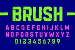 Brush style modern font Royalty Free Stock Photography