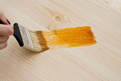 Brush on surface Royalty Free Stock Images