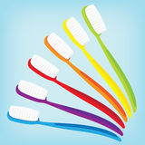 Brush teeth colorful isolated Stock Photo