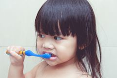 Brush their teeth. Stock Images