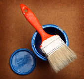Brush  on tin can Stock Image