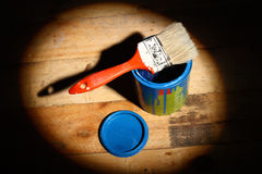 Brush  on tin can Stock Images