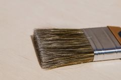 Brush to cover the bristles close-up stock images