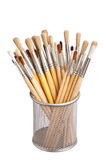 Brush to paint in the basket Stock Photography