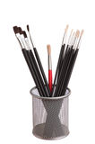 Brush to paint in the basket Stock Photo