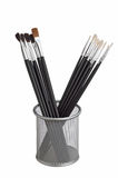 Brush to paint in the basket Royalty Free Stock Image