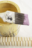 Brush To Side On Paint Can Stock Image