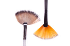 Brush to white and black makeup Royalty Free Stock Images