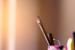 Brush and tools of makeup Royalty Free Stock Images