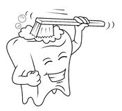 Brush tooth Royalty Free Stock Photography