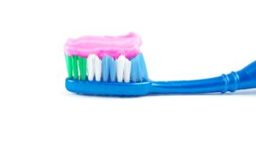 Brush with toothpaste Stock Image