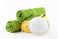 Brush and towel Royalty Free Stock Photo