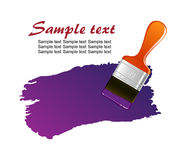 Brush trace Royalty Free Stock Photography