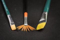 Brush types Stock Image