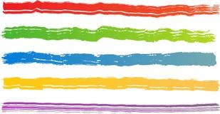 brush ungefärliga slaglängder för färg royaltyfri illustrationer