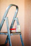 Brush up on the ladder Stock Image