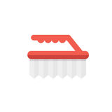 Brush vector illustration. Fetlock for washing icon. Brush on wh. Ite background. Banner for cleaning company. Service of housework Royalty Free Stock Image