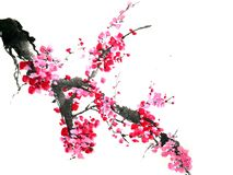 Chinese or japanese ink painting vector illustration