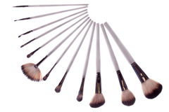Brush white makeup Royalty Free Stock Images
