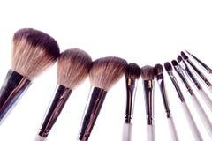 Brush white makeup Royalty Free Stock Photos