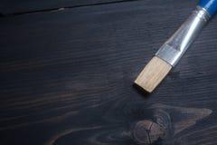 Brush on wood Royalty Free Stock Photo