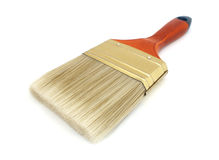 Brush with wooden handle Royalty Free Stock Image