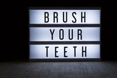 Brush your teeth Stock Photography