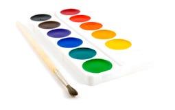 brushe farby Obraz Stock