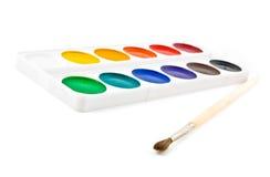 brushe farby Fotografia Stock
