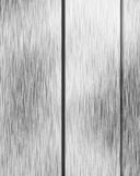 Brushed alluminium metal plate Stock Photo
