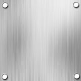 Brushed aluminium metal plate Royalty Free Stock Photo
