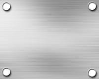 Brushed aluminium metal plate Stock Photos