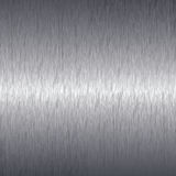 Brushed aluminium metal plate background Royalty Free Stock Images