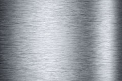 Brushed aluminum background texture Stock Images