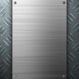 Brushed Aluminum Diamond Plate Stock Photo