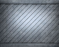 Brushed aluminum metallic plate useful for backgro Stock Image