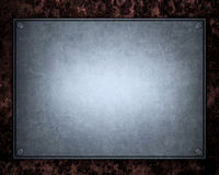 Brushed aluminum metallic plate useful for backgro Stock Photos