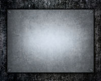 Brushed aluminum metallic plate useful for backgro Stock Photo