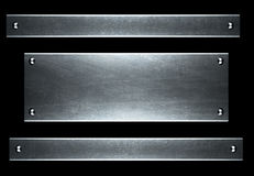 Brushed aluminum metallic plate useful for backgro Stock Photography