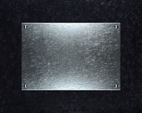 Brushed aluminum metallic plate useful for backgro Royalty Free Stock Photos