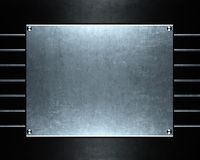 Brushed aluminum metallic plate useful for backgro Royalty Free Stock Photo