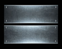 Brushed aluminum metallic plate useful for backgro Royalty Free Stock Images